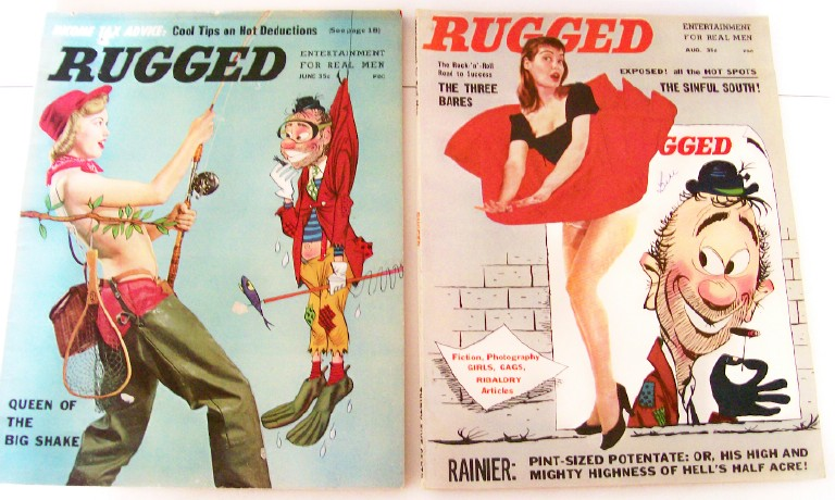 1950s Rugged Cheesecake Men's Mags Volume 1 Abbe Lane
